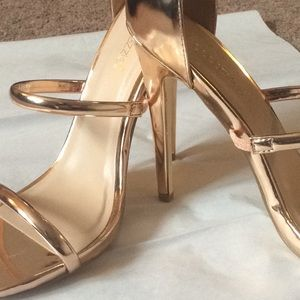 Shoe Dazzle Rose Gold Heels